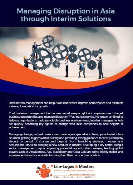 Managing Disruption in Asia through Interim Solutions